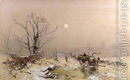 Winter Scene by Charles Branwhite - Reproduction Oil Painting