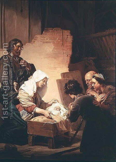 The Adoration of the Shepherds by Dirck de Bray - Reproduction Oil Painting