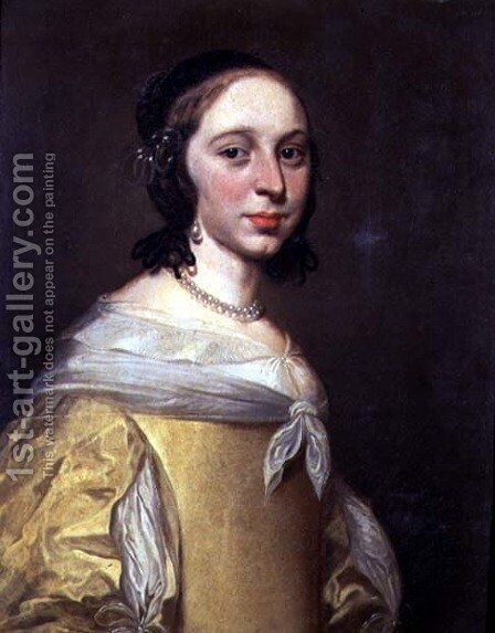 Portrait of a Lady in a Yellow Dress by Jan De Bray - Reproduction Oil Painting