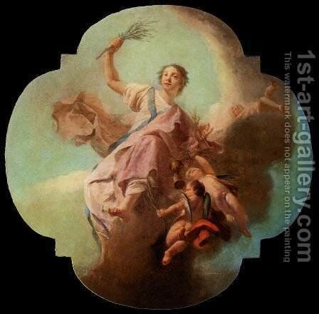 Charity c. 1754 by Giuseppe Angeli - Reproduction Oil Painting