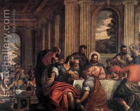 Last Supper by Benedetto Caliari - Reproduction Oil Painting