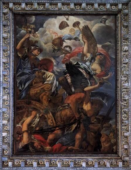 The Triumph of Wisdom 1671 by Giovanni Coli - Reproduction Oil Painting
