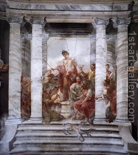 Apollo Conducting a Choir of Maidens 1776 by Jacopo Guarana - Reproduction Oil Painting