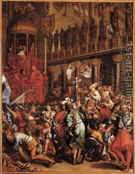 Doge Enrico Dandolo Recruiting for the Crusade 1621 by Jean Achille Leclerc - Reproduction Oil Painting