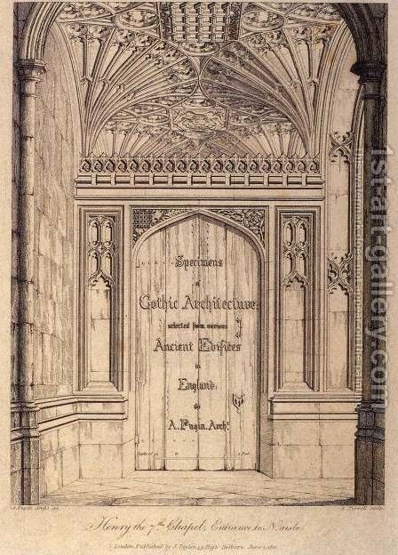 Specimens of Gothic Architecture (frontispiece) 1821-23 by Augustus Charles Pugin - Reproduction Oil Painting