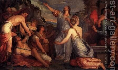 The Raising of Lazarus 1540-45 by Giuseppe Salviati - Reproduction Oil Painting