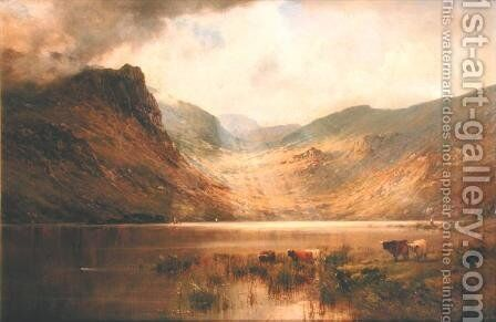 Loch Lochay by Alfred de Breanski - Reproduction Oil Painting
