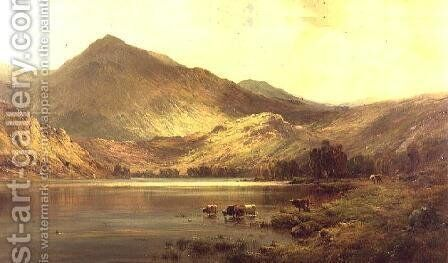 Lochearnhead by Alfred de Breanski - Reproduction Oil Painting