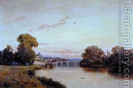 Richmond on the Thames by Alfred de Breanski - Reproduction Oil Painting