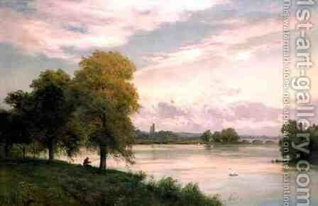 Walton on the Thames by Alfred de Breanski - Reproduction Oil Painting
