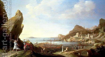 Balaam and His Ass by Bartholomeus Breenbergh - Reproduction Oil Painting