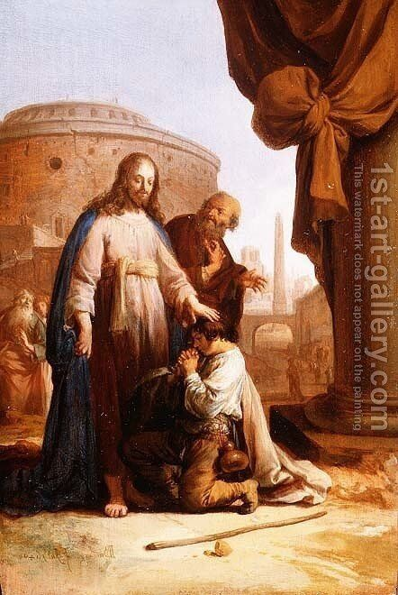 Christ and the Rich Young Ruler, 1640 by Bartholomeus Breenbergh - Reproduction Oil Painting