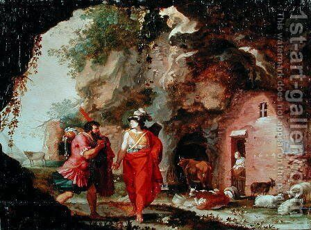 Odysseus and Artemis by Bartholomeus Breenbergh - Reproduction Oil Painting