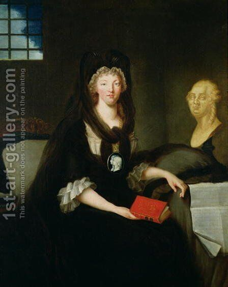Marie-Antoinette at the Conciergerie by Marquise de Brehan - Reproduction Oil Painting