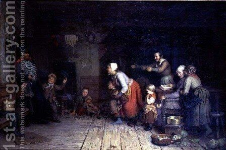 The Homecoming by Meyer Georg von Bremen - Reproduction Oil Painting