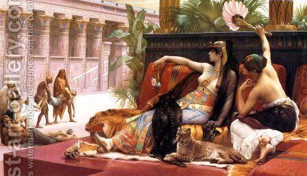Cleopatra Testing Poisons on Those Condemned to Death by Alexandre Cabanel - Reproduction Oil Painting