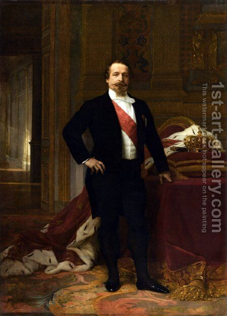 Napoleon III (1808-73) c.1865 by Alexandre Cabanel - Reproduction Oil Painting