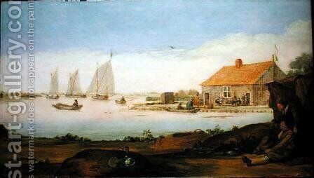 Catching Duck by Arentsz van der Cabel - Reproduction Oil Painting