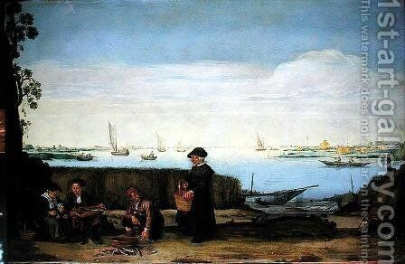 The Fish Sellers by Arentsz van der Cabel - Reproduction Oil Painting
