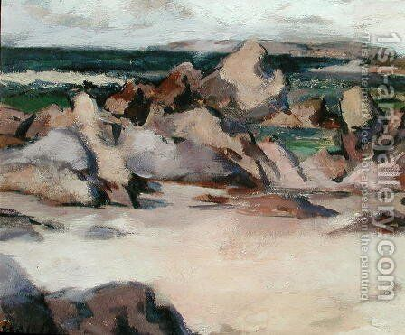 Treshnish Point, North End Iona, c.1934 by Francis Campbell Boileau Cadell - Reproduction Oil Painting