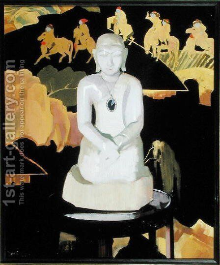 The Buddha (Black and Gold) c.1929-30 by Francis Campbell Boileau Cadell - Reproduction Oil Painting
