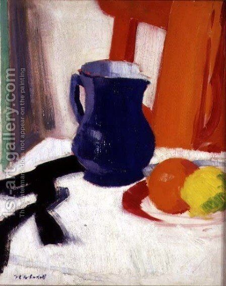 Blue and Orange by Francis Campbell Boileau Cadell - Reproduction Oil Painting