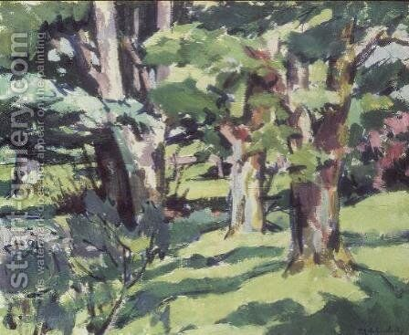 Trees at Auchinleck, Ayrshire by Francis Campbell Boileau Cadell - Reproduction Oil Painting