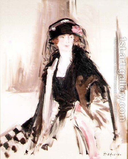 Portrait of Lady Lavery by Francis Campbell Boileau Cadell - Reproduction Oil Painting