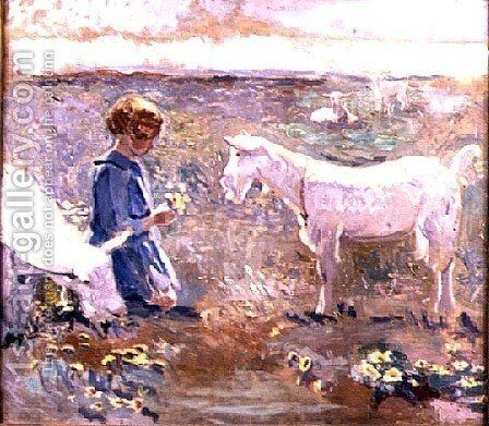 Goats Grazing by Francis Campbell Boileau Cadell - Reproduction Oil Painting