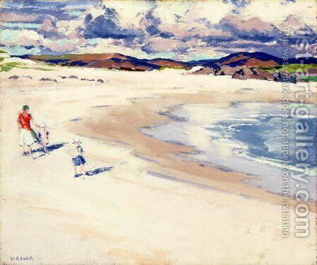 On the Shore, Iona, c.1920s by Francis Campbell Boileau Cadell - Reproduction Oil Painting