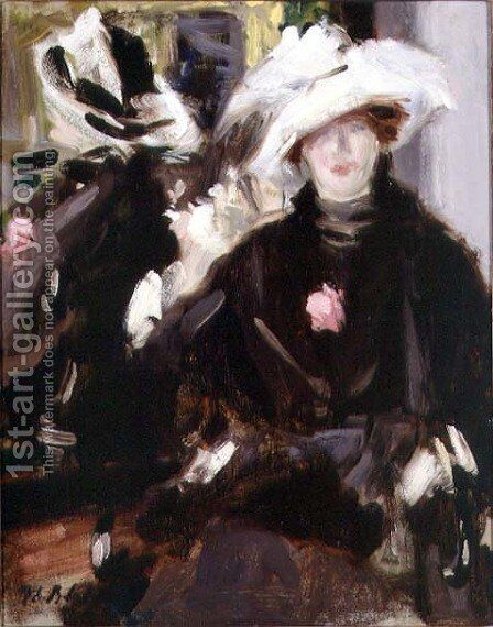 The Feathered Hat by Francis Campbell Boileau Cadell - Reproduction Oil Painting