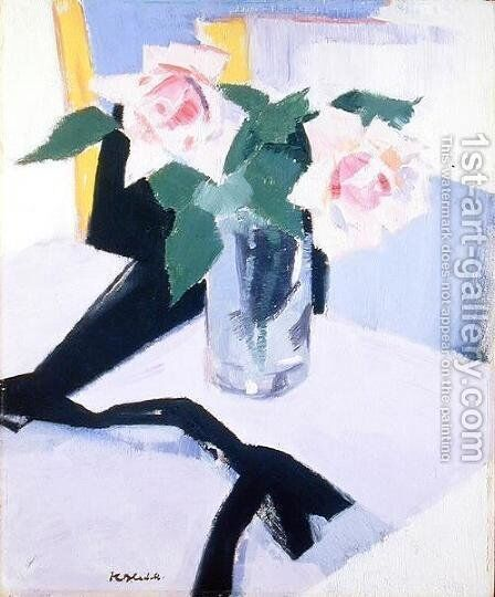 Roses at Cassis, 1921 by Francis Campbell Boileau Cadell - Reproduction Oil Painting