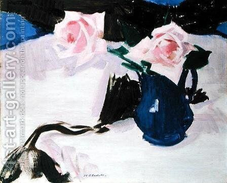 Roses by Francis Campbell Boileau Cadell - Reproduction Oil Painting