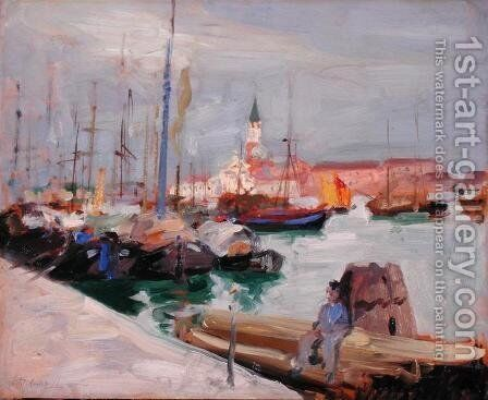 Venice, c.1910 by Francis Campbell Boileau Cadell - Reproduction Oil Painting