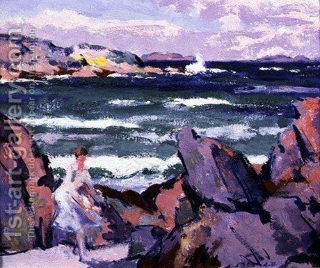 North Wind, Iona by Francis Campbell Boileau Cadell - Reproduction Oil Painting