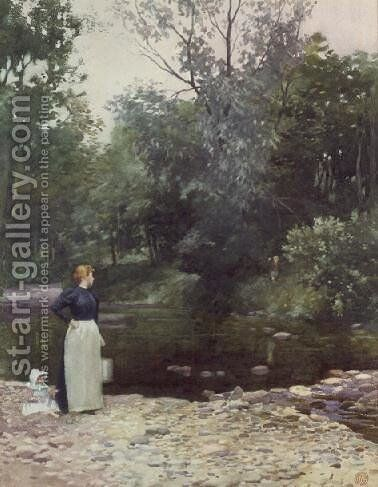 Stepping Stones by James Cadenhead - Reproduction Oil Painting