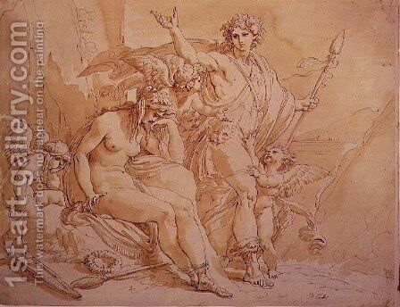 Bacchus and Ariadne, 1780 by Giuseppe Cades - Reproduction Oil Painting