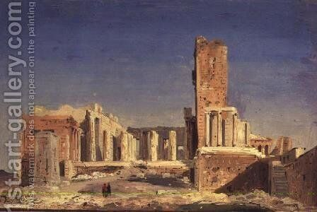 The Acropolis, 1843 by Ippolito Caffi - Reproduction Oil Painting