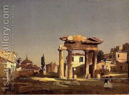 The Gate of Agora in Athens, 1843 by Ippolito Caffi - Reproduction Oil Painting