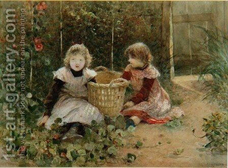 In the Walled Garden by Hector Caffieri - Reproduction Oil Painting