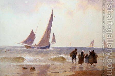 Off to the Fishing Grounds by Hector Caffieri - Reproduction Oil Painting