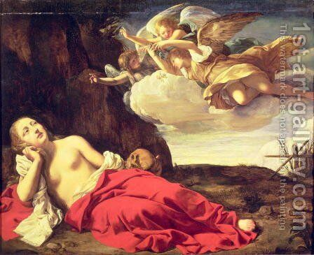 Penitent Mary Magdalene by Guido Cagnacci - Reproduction Oil Painting