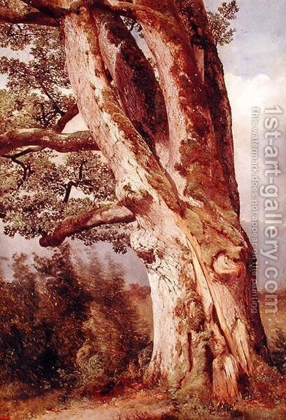 The Oak by Alexandre Calame - Reproduction Oil Painting