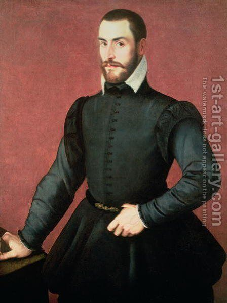 Portrait of a Young Man in an Interior by Jan Steven van Calcar - Reproduction Oil Painting