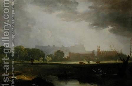 Windsor from Eton by Sir Augustus Wall Callcott - Reproduction Oil Painting