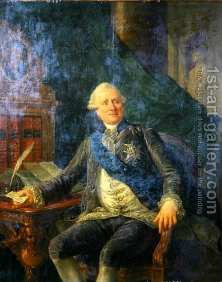 Charles Gravier (1719-87) Count of Vergennes by Antoine-Francois Callet - Reproduction Oil Painting