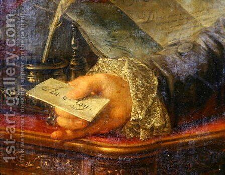 Charles Gravier (1719-87) Count of Vergennes (detail) by Antoine-Francois Callet - Reproduction Oil Painting