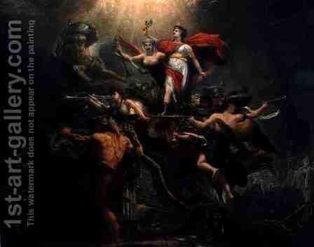 Allegory, 9 Nov 1799 by Antoine-Francois Callet - Reproduction Oil Painting