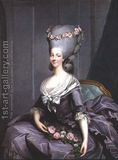 Marie-Therese de Savoie-Carignan (1749-92) Princess of Lamballe by Antoine-Francois Callet - Reproduction Oil Painting