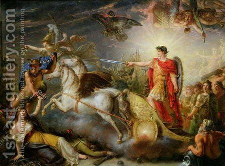 Allegory of the Surrender of Ulm, 20th October 1805 by Antoine-Francois Callet - Reproduction Oil Painting